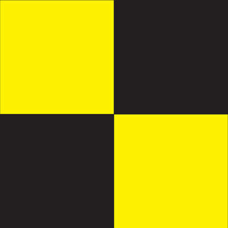 Typical quarantine flag in black and white squares