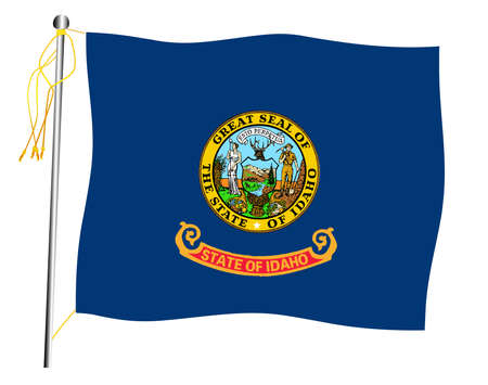 The Idaho Kentucky State US state flag set against against a white background.  イラスト・ベクター素材