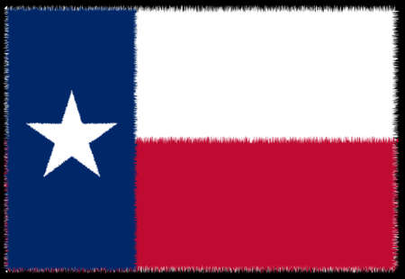 The flag of the USA state of TEXAS as grunge