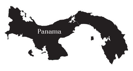 Map of Panama as a black silhouette over a white background