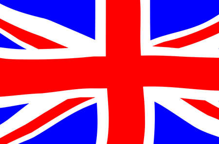 Typical United Kingdom union flag or Union Jack