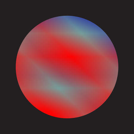 Eine Darstellung des Planeten Merkur auf schwarzem Hintergrund Vektorgrafik