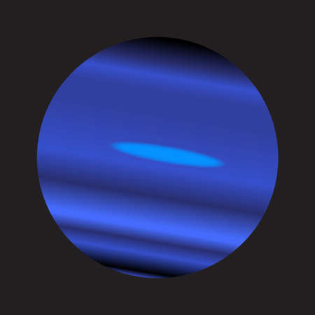 A representation of the planet Neptune over a black background