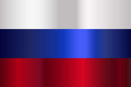 Modern red white and blue stripes of a Russian flag