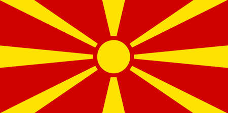 The flag of Flag of the Republic of Macedonia