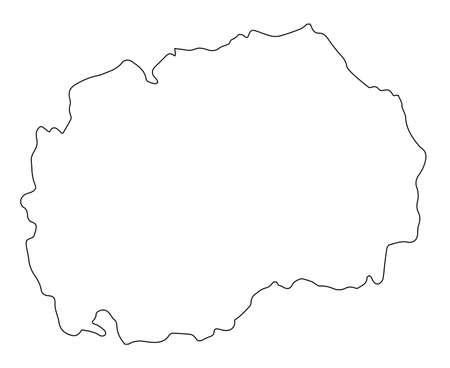 Outline map of Macedonia isolated over a white background