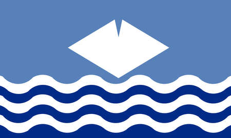 Flag of the United Kingdom island of the Isle of Wight in the English Channel