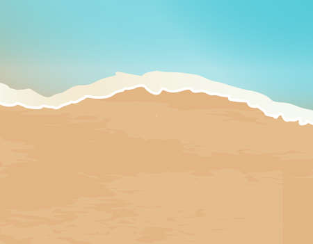 A sand and surf shoreline with foam  イラスト・ベクター素材