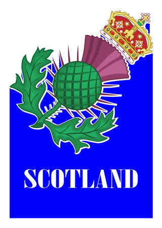 The thistle symbol of SCotland over a white background