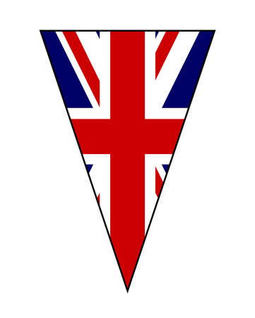 The British Union Jack Flag as part of a bunting