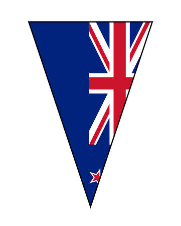 The national flag of New Zealand as part of a bunting