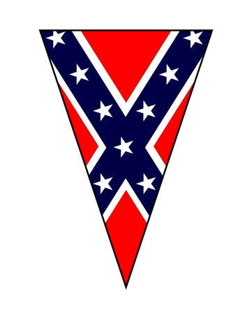 The flag of the Confederate States as part of a bunting