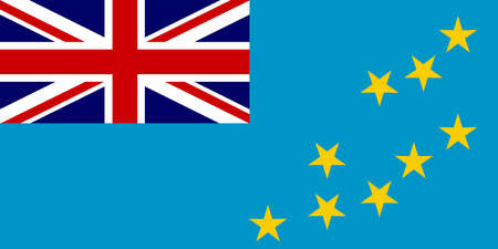 The Flag if the Pacific island country of Tuvalu 일러스트