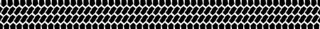 One long tyre tread patterns isolated on a white background as a web banner