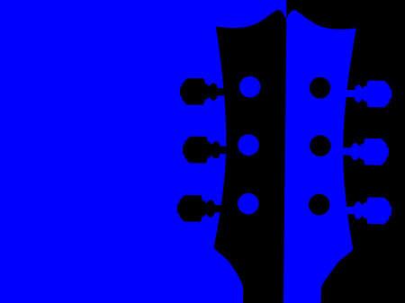 An acoustic guitar headstock in red and black split backgrpund Foto de archivo - 136242996