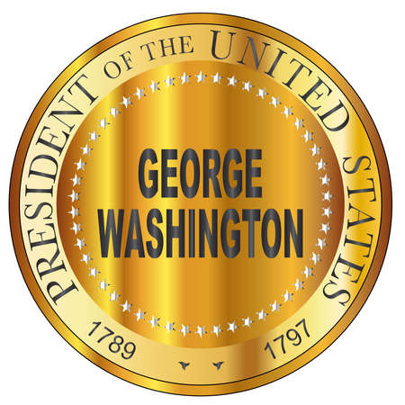 George Washington president of the United States of America round stamp