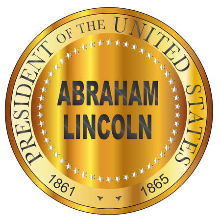 Abraham Lincoln president of the United States of America round stamp