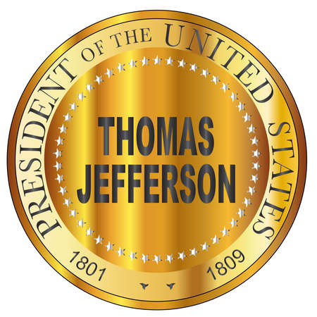 Thomas Jefferson president of the United States of America round stamp