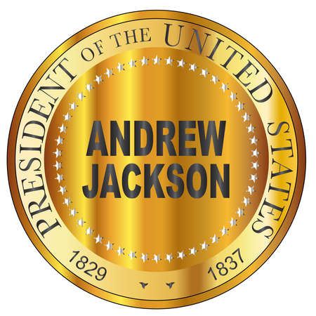 Andrew Jackson 7th president of the United States of America round stamp