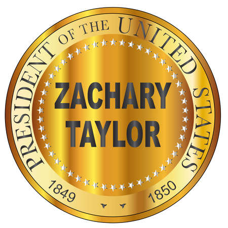 Zachary Taylor 10th president of the United States of America round stamp