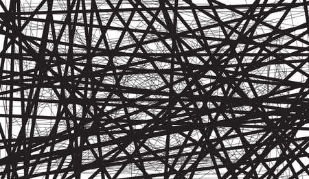 A black wire tangle background over a white backdrop