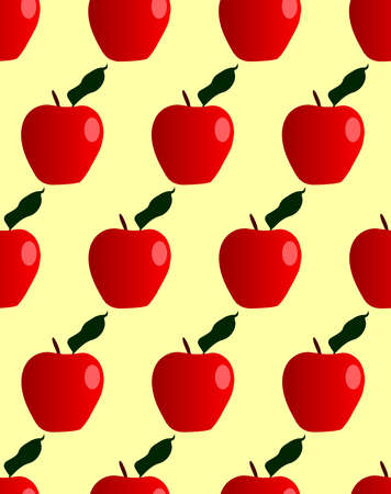 Red juicy apples in a seamless repeating pattern Illusztráció