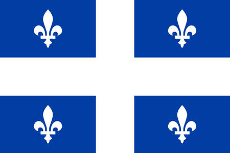 The regional Flag Of Quebec Canada with motif and Union Flag