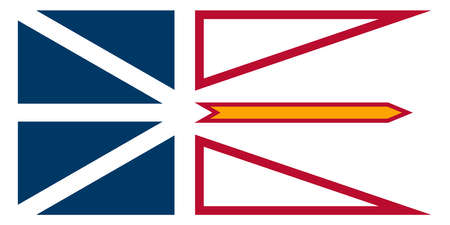 The provincial Flag Of Quebec Canada with motif and Union Flag