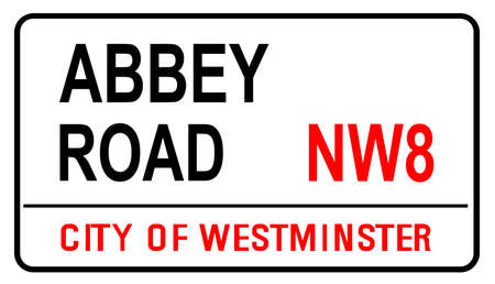 The street name sign from Abbey Road the famous street sign in London England