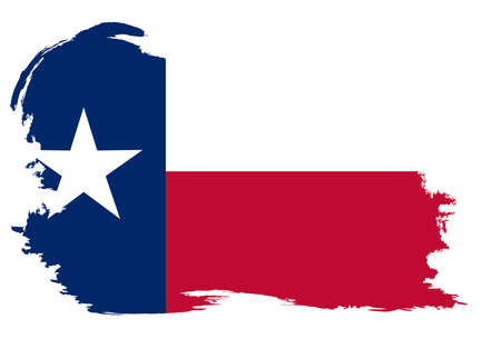 The flag of the USA state of TEXAS with a white grunge border and copy space