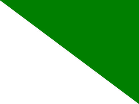 The flag of the Russian region of Siberia in white and green