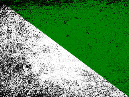 The flag of the Russian region of Siberia in white and green with grunge FX 向量圖像