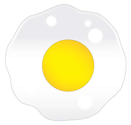 A single frying egg over a white background 向量圖像