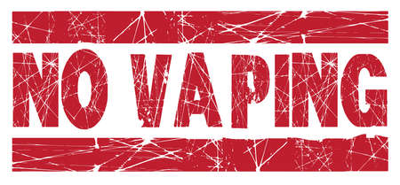 A no vaping red rubber ink stamp over a white background 向量圖像