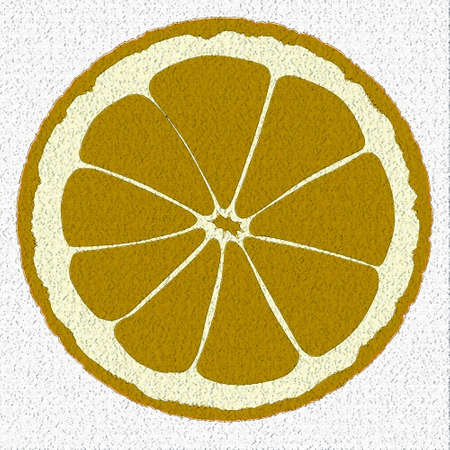 An orange slice isolated over a white background.