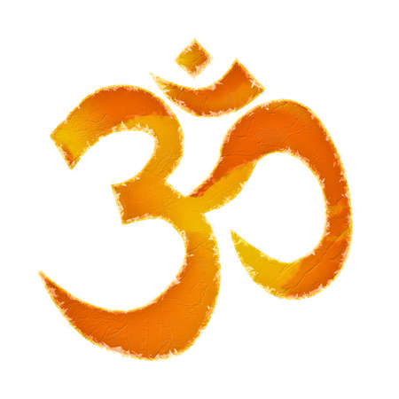 The symbol for 'OM' as used by eastern cultures.