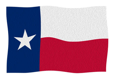 The flag of the USA state of TEXAS Banque d'images