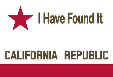 The flag of the USA state of California With State Motto Illustration
