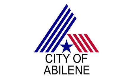 The flag of the city in Texas of Abilene with state star Illustration