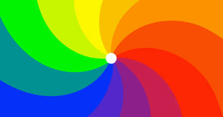A hypnotic rotation of rainbow colours as a background Illustration