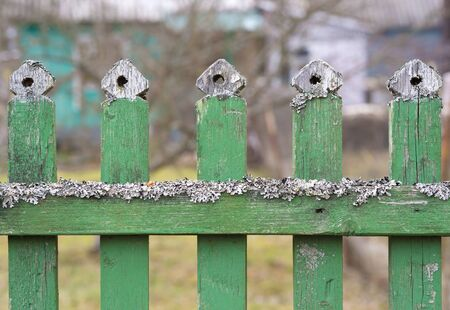 dacha: Fragment of an old wooden fence.Small depth of field