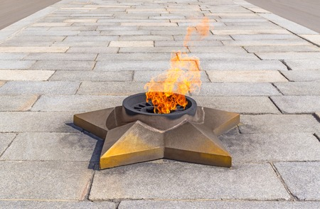 kudos: Burning eternal flame and star at mass tomb of soldiers