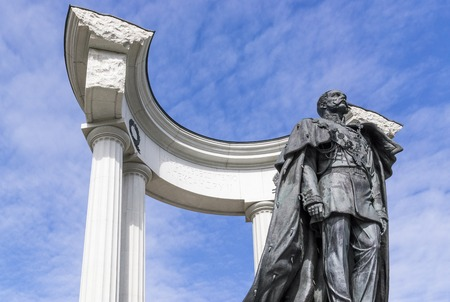 the liberator: Monument to Alexander II.This Emperor Liberator implemented great reforms in Russia Editorial