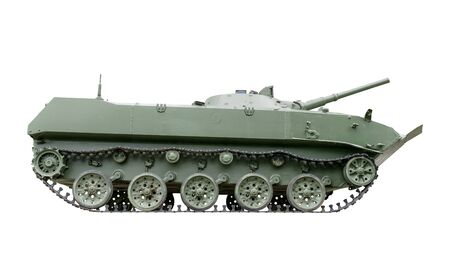 infantry: Infantry fighting vehicle isolated on white background.Side view
