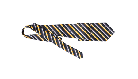 Mens striped necktie isolated on white background Imagens