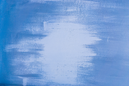 Texture of old metal plate painted with blue dye Stock Photo