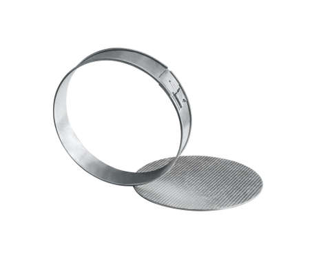 Collapsible baking dish for making cakes and pies. Isolated on white background Standard-Bild