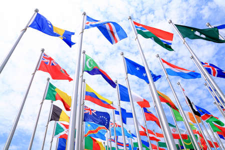 The national flags is flying around the world Stock Photo - 11501188