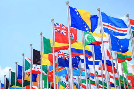 The national flags is flying around the world Stock Photo - 11501190