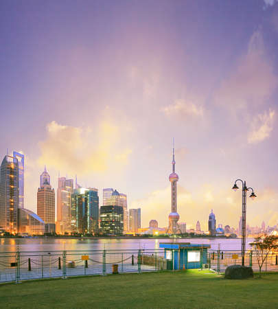 Shanghai skyline at New landscape